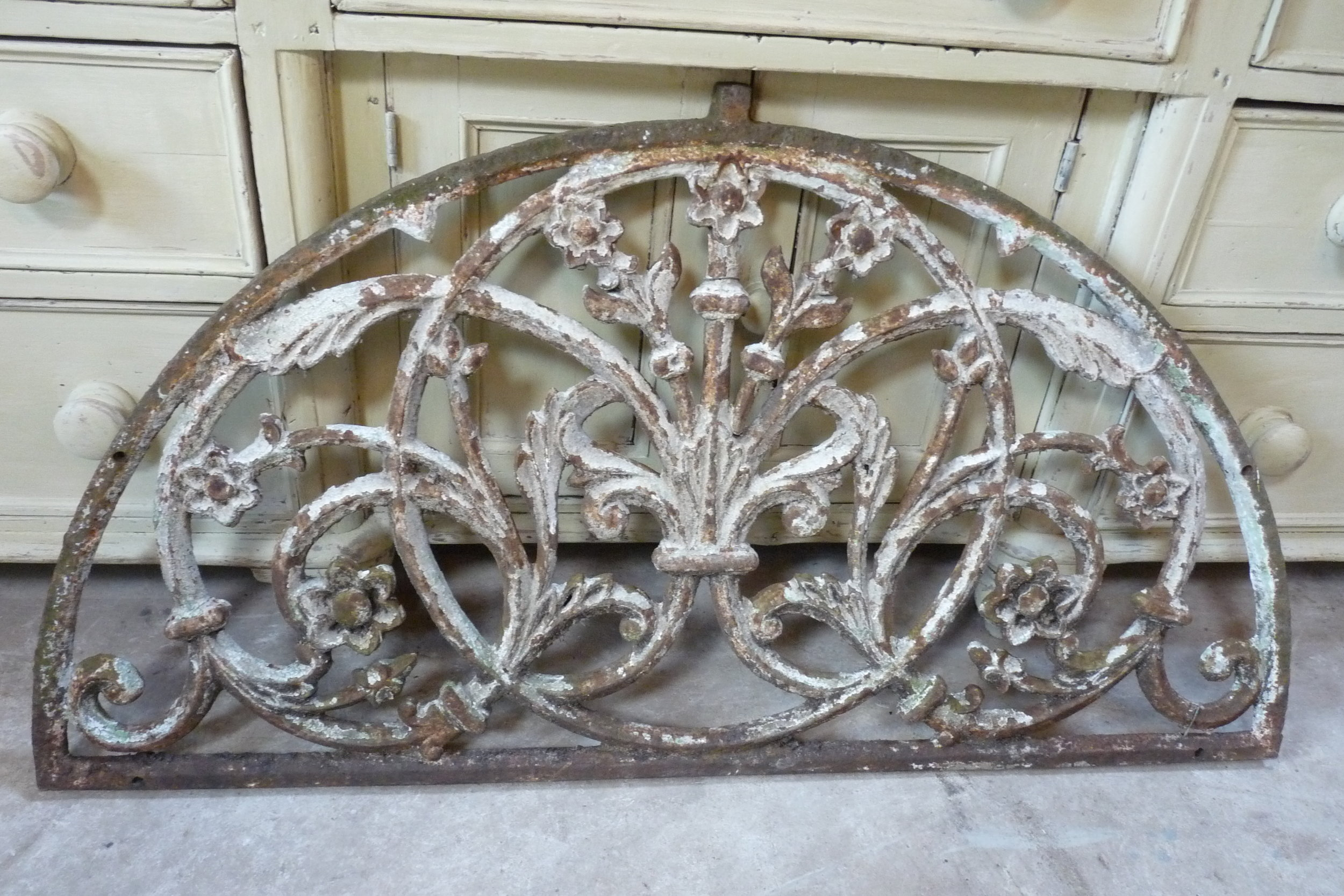 French Early 19th Century iron overdoor. £395.