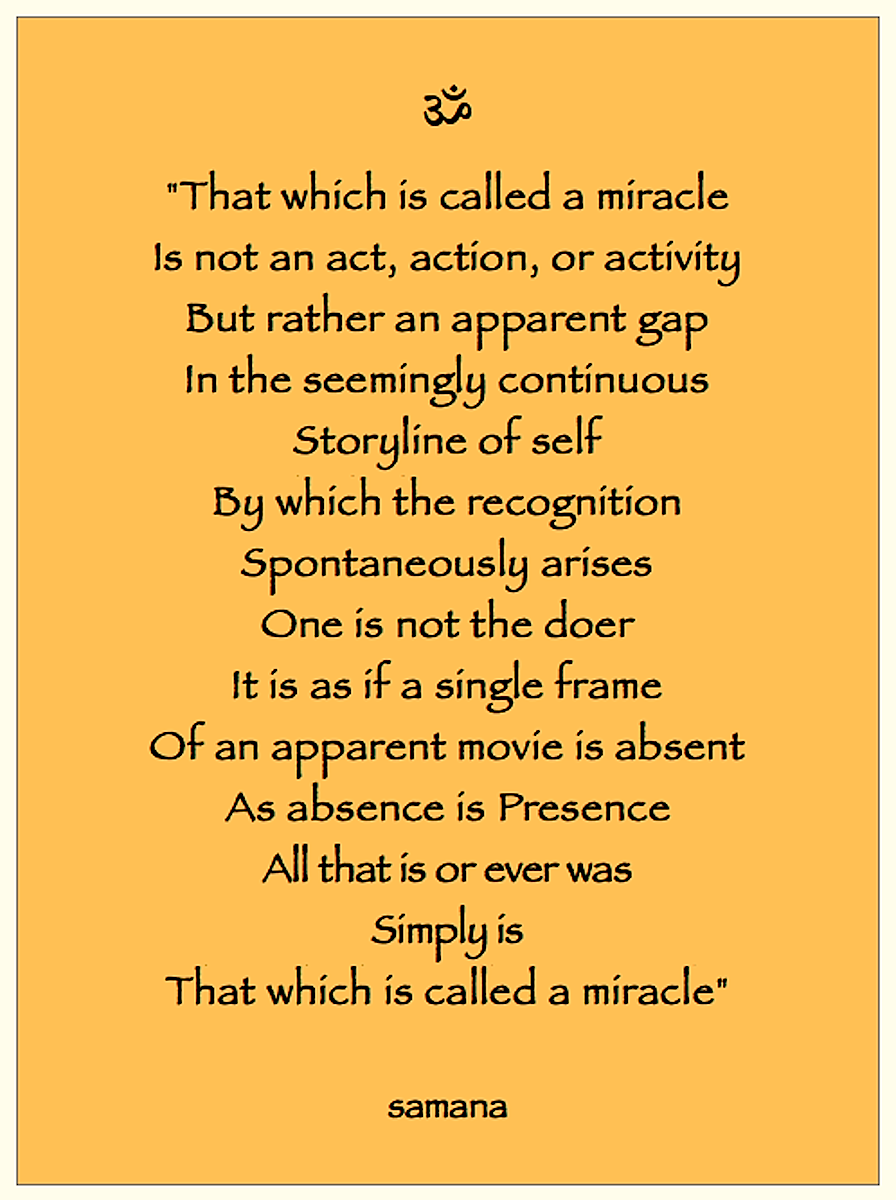 Miracle 2©Samana