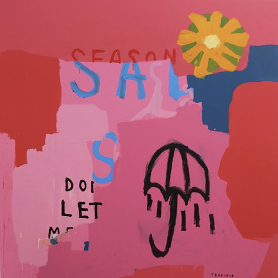 Sad Season 2018   Acrylic on canvas  168 x 168 cm  Unframed  $5,995 AUD  Location: Cheltenham