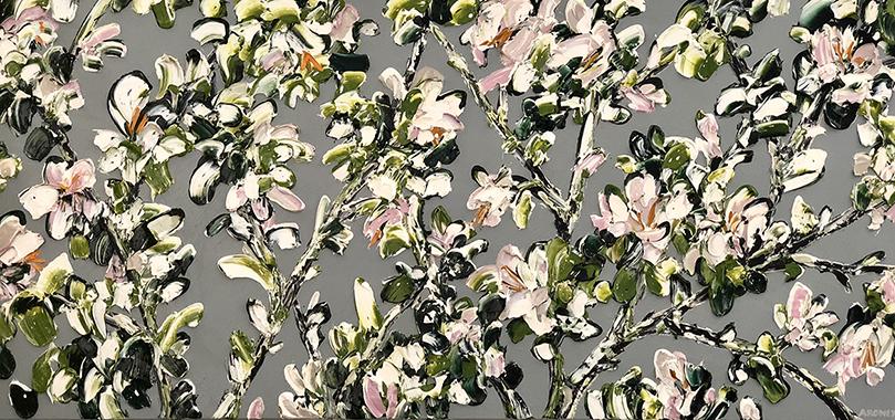 Augustine 2018   Oil and acrylic on canvas  190 x 90 cm  Unframed  $5,800 AUD  Location: Cheltenham
