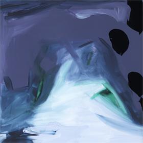 'Big Rain'  KAR-389: 54 x 54 cm, black frame under glass -  UNAVAILABLE