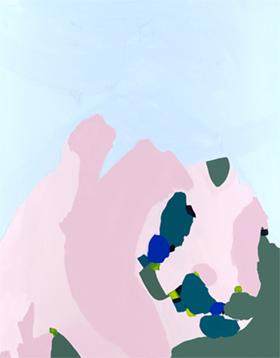 'Share a Sky'  KAR-174: 85 x 112 cm, natural frame -  AVAILABLE