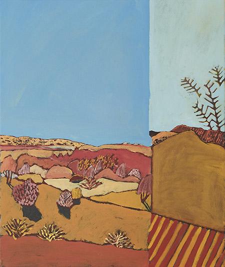 Red/Center San José 2018   Oil on canvas  53 x 63 cm  Framed in natural oak  $1,500 AUD  Location: Cheltenham