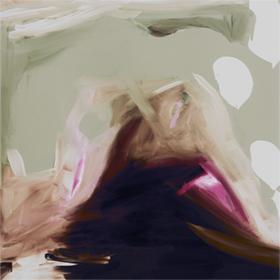 'Rain'  KAR-158: 98 x 98 cm, black frame -  AVAILABLE