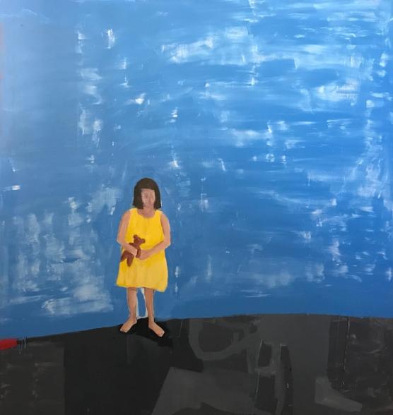 All Is Lost 2018   Acrylic on canvas  174 x 190 cm  Framed in white Australian oak  $7,200 AUD  Location: Cheltenham