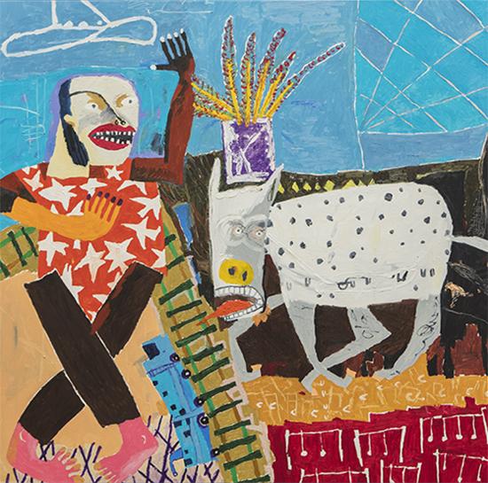 Donkey and Masters 2018   Oil on linen  154 x 154 cm  Unframed  $9,500 AUD  Location: Cheltenham