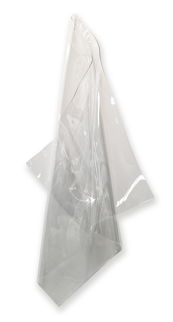 Clear Hang #1   Wall mounted, heat moulded polymethyl methacrylate  H172 x W52 x D39 cm  $2,000 AUD  Location: Cheltenham