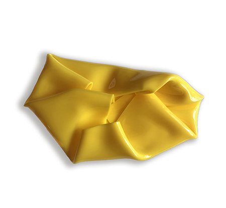 Yellow Flame   Wall mounted, heat moulded polymethyl methacrylate  H25 x W28 x D10 cm  $1,000 AUD  Location: Cheltenham