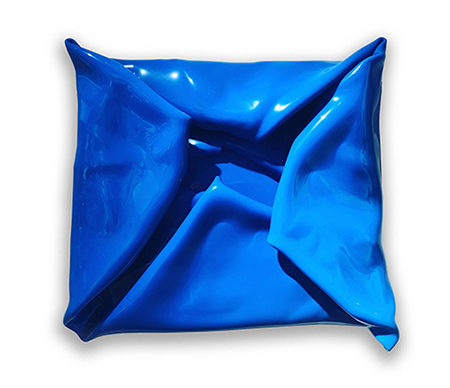 Blue Fold   Wall mounted, heat moulded polymethyl methacrylate  H55 x W59 x D10 cm  $1,600 AUD  Location: Cheltenham