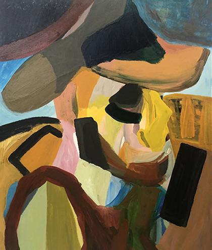 Vincent   Acrylic on canvas board  51 x 61 cm  Framed in black Australian oak  $1,600 AUD  Location: Cheltenham
