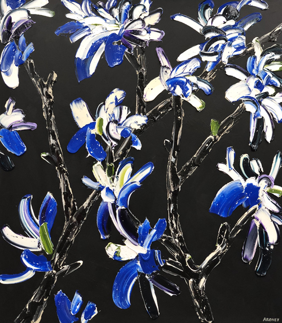 Bolt 2019   Oil and acrylic on canvas  143 x 163 cm  Framed in black Australian oak  $6,990 AUD  Location: Cheltenham