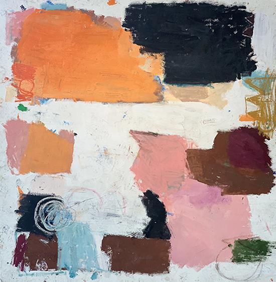 Humma Mumma 2018   Oil and oil stick on canvas  190 x 195 cm  Unframed  $12,500 AUD  Location: Cheltenham
