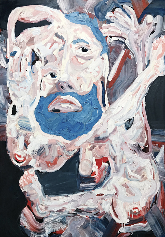 Self Portrait (I've never seen The Sound of Music) 2018   Oil on canvas  170 x 240 cm  Unframed  SOLD