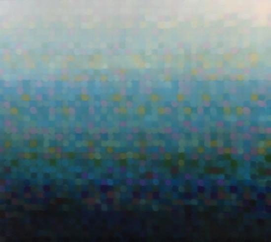 Aqua Stratum II 2018   170 x 150 cm  Oil on linen  $16,500 AUD  Location: Cheltenham