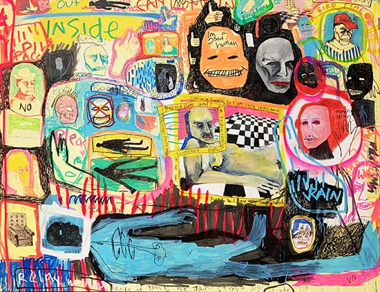 Do I Belong 2019   Acrylic on canvas  260 x 190 cm  Unframed  $6,900 AUD  Location: Cheltenham