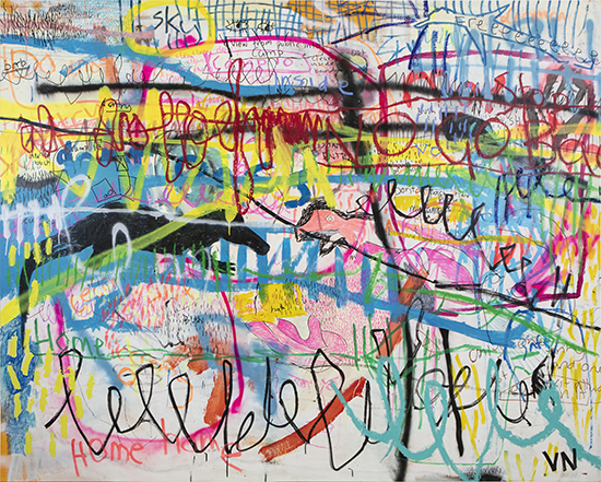 Barriers   Acrylic on canvas  245 x 196 cm  Unframed  $5,800 AUD  Location: Cheltenham