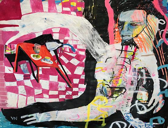 Inside Out   Acrylic on canvas  210 x 190 cm  Unframed  $3,900 AUD  Location: Cheltenham