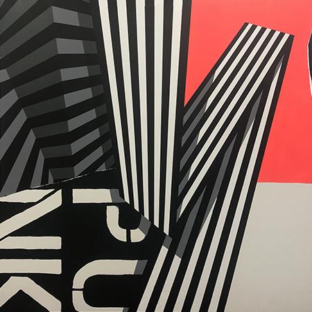 Punkonography 2.0 2019   Aerosol on canvas  100 x 100 cm  Unframed  $1,000 AUD  Location: Cheltenham