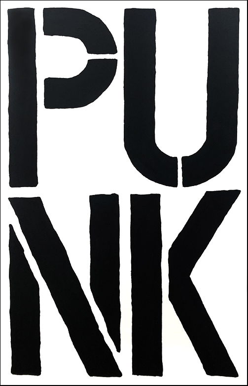 Punk 2.0 2019   Aerosol on canvas  103 x 153 cm  Framed in black Australian oak  $2,215 AUD  Location: Cheltenham