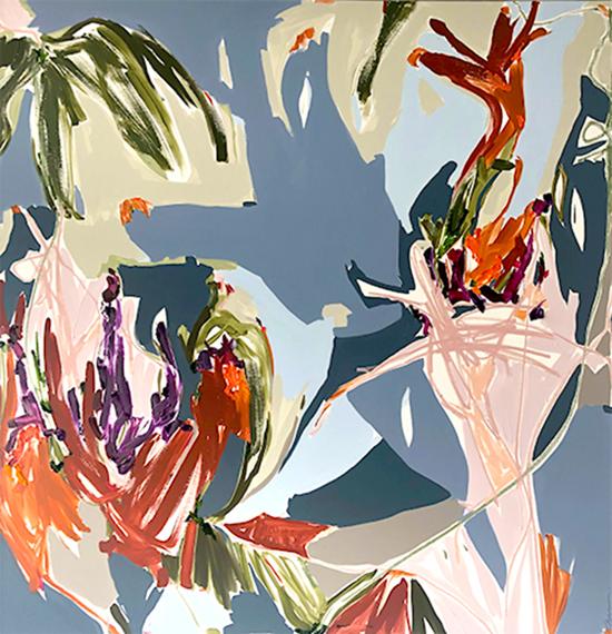 Painting You (As a Shadow)   Tasting Flowers series 2018  163 x 174 cm  Oil on Belgian linen  Framed in white Australian oak  Location: Cheltenham