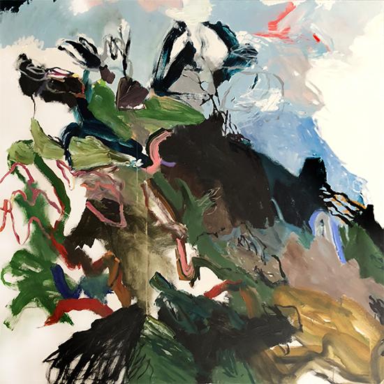 Campbell's reach (Panel Two 1) 2019   Acrylic on canvas  180 x 180 cm  Unframed  $4,700 AUD  Location: Cheltenham