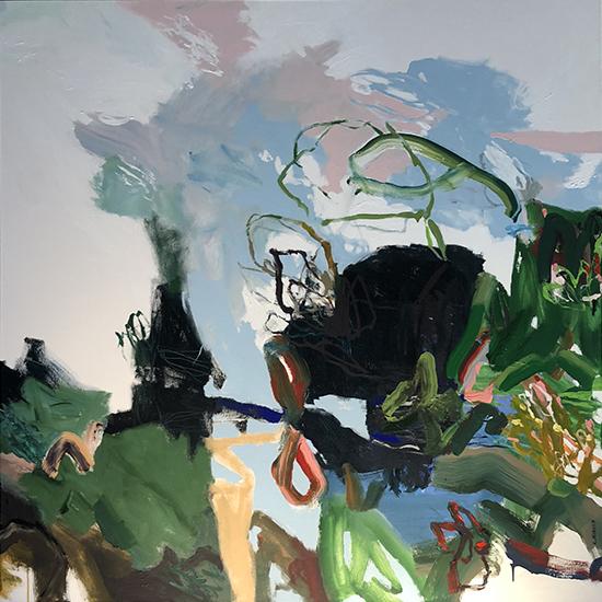 Campbell's reach (Panel Two 2) 2019   Acrylic on canvas  180 x 180 cm  Unframed  $4,700 AUD  Location: Cheltenham