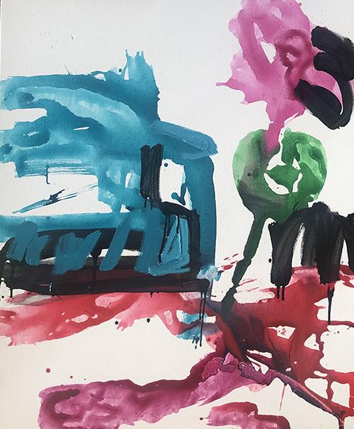 Liquid Velvet 2019   Acrylic on canvas  115 x 140 cm  Framed in natural Australian oak  $3,300 AUD  Location: Cheltenham