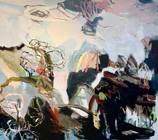Gough's Bay (Panel Two) 2019   Acrylic on canvas  160 x 180 cm  Unframed  $4,700 AUD  Location: Cheltenham