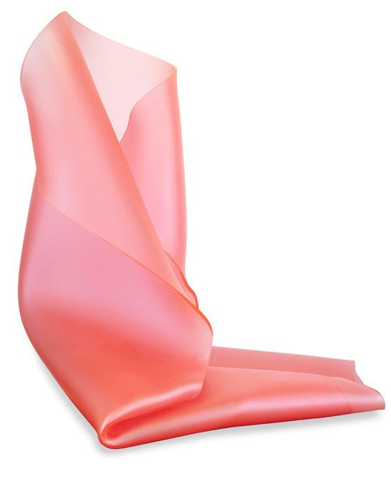 Pink Satin Freestanding Form 2   H75 x W60 x D70 cm  Table plinth, heat moulded polymethyl methacrylate  2,500.00  Location: Cheltenham