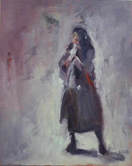 Rome Figure Study 6, 2019   Oil on canvas  44 x 54 cm  Framed in black Australian oak  $1,220 AUD  Location: Cheltenham