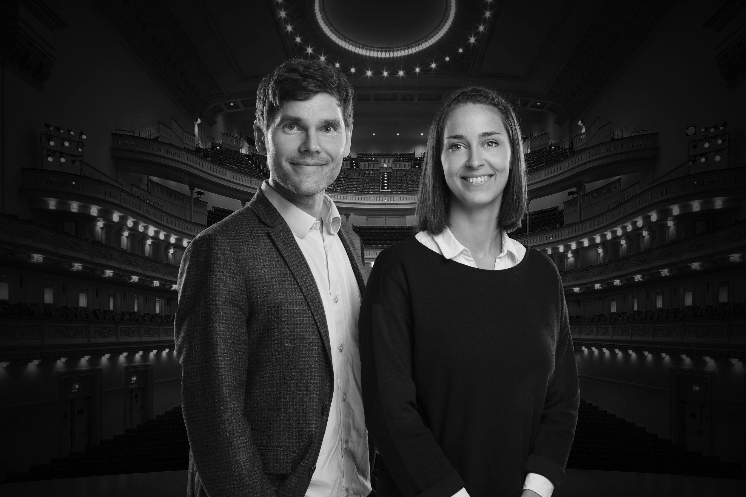 Founders of Opera.fo: Annfinnur Heinesen, stage director and Birita Adela Davidsen, coloratura soprano and project manager.