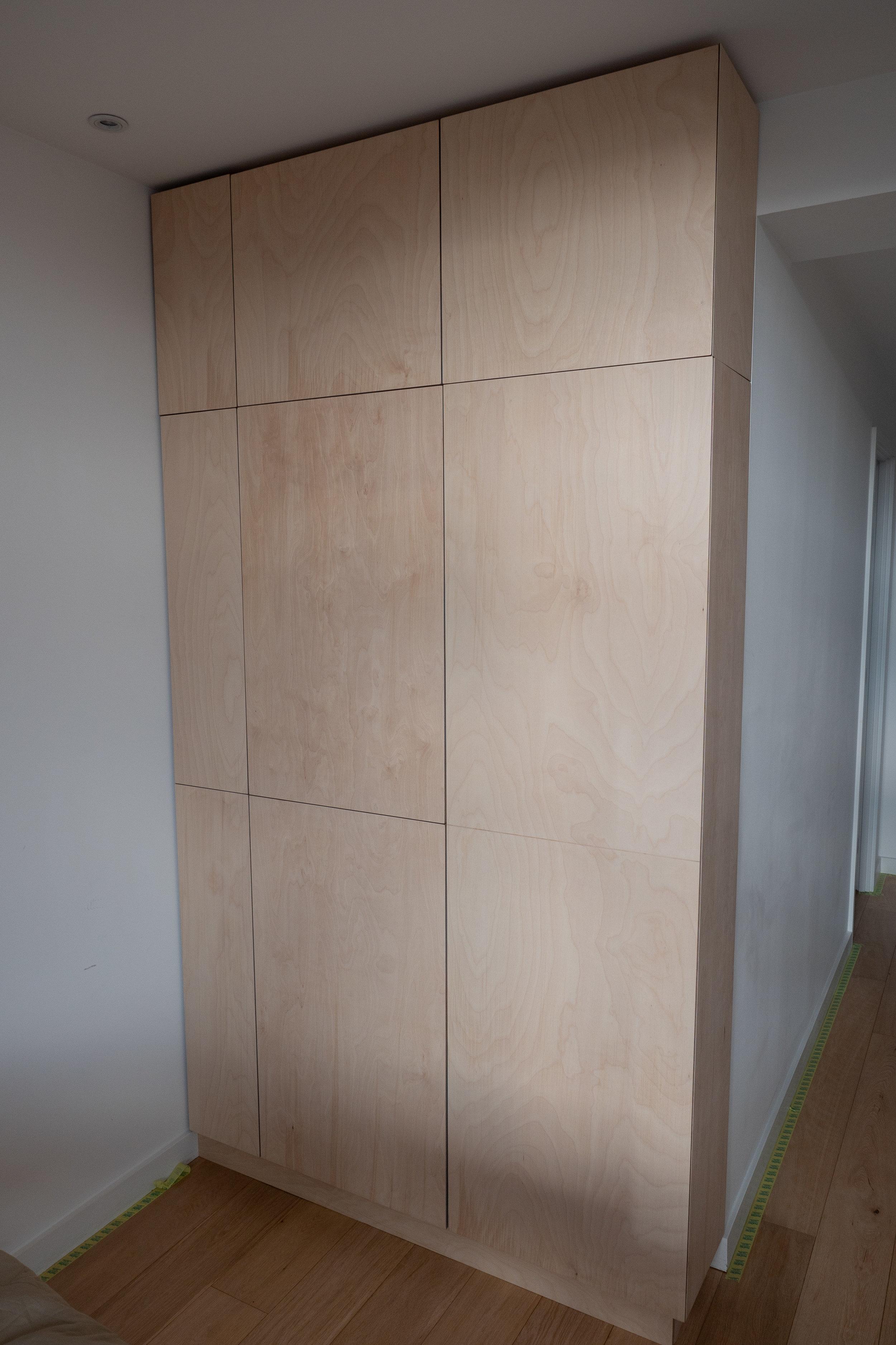 Birch ply hall cupboard unit