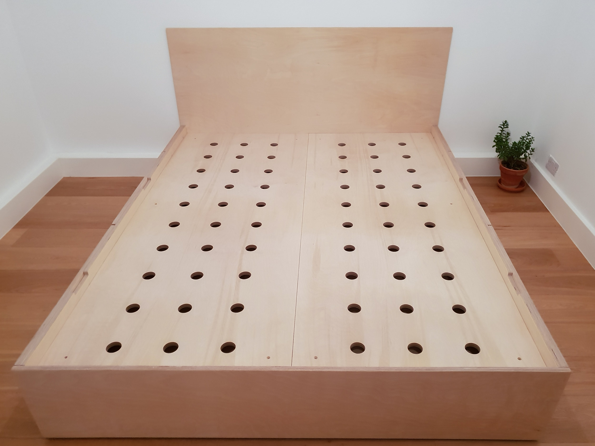 Plywood bed / giant whack-a-mole