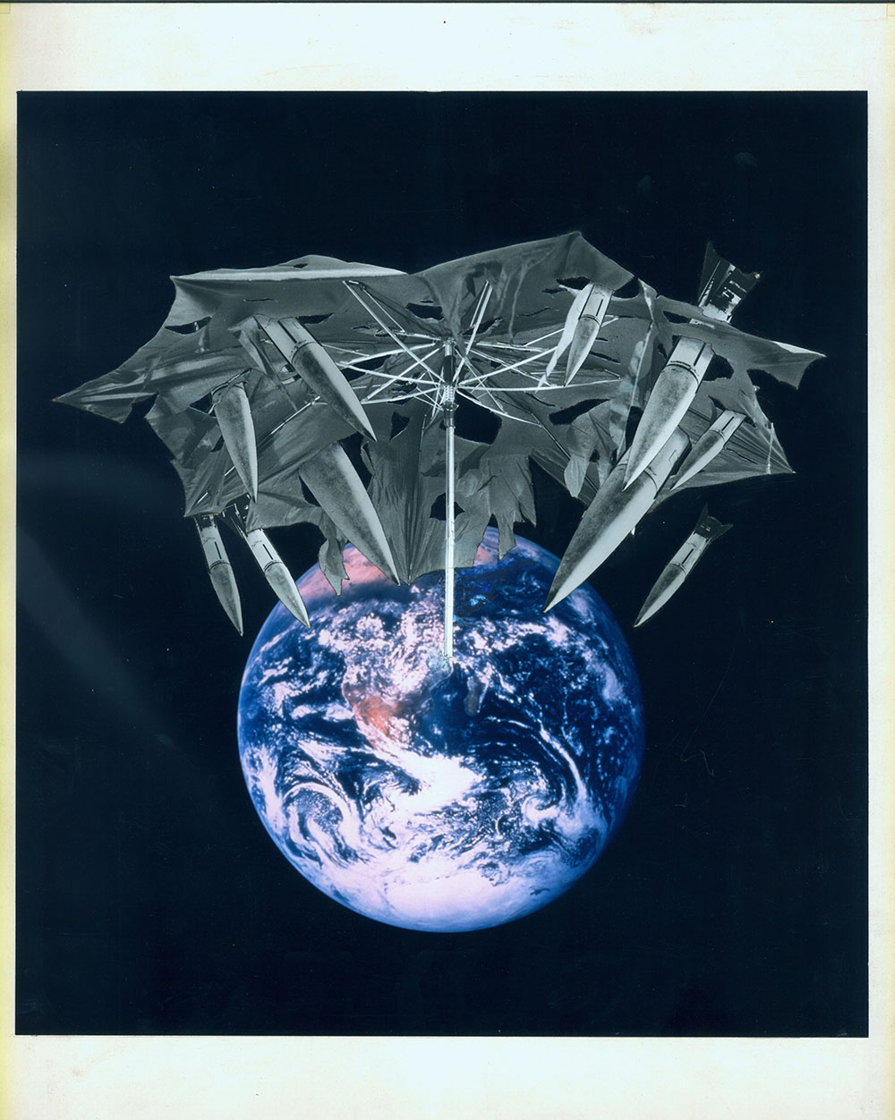 Earth (Star Wars) - PhotomontageGelatin silver and cibachromeprint on card1988First published:New Scientist, 1st Sept 1988Catalogue: PK/93