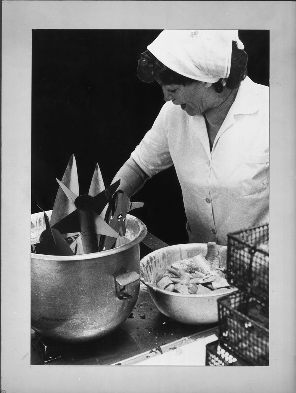 School Dinners? - PhotomontageGelatin silver prints on card1986First published: About Turn,Pluto Press, 1986Catalogue: PK/244
