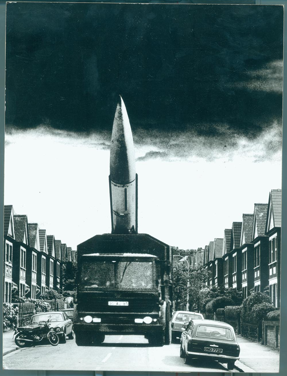 Down Your Street - PhotomontageGelatin silver prints on card1984First published:Poster for CND, 1984Catalogue: PK/175