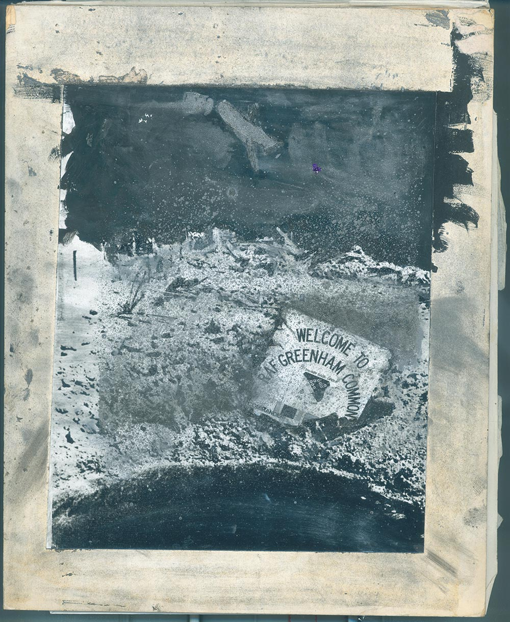 Greenham Common - PhotomontageGelatin silver prints, gouacheand graphite on card1981First published:No Nuclear Weapons,CND/Pluto Press, 1981Catalogue: PK/28