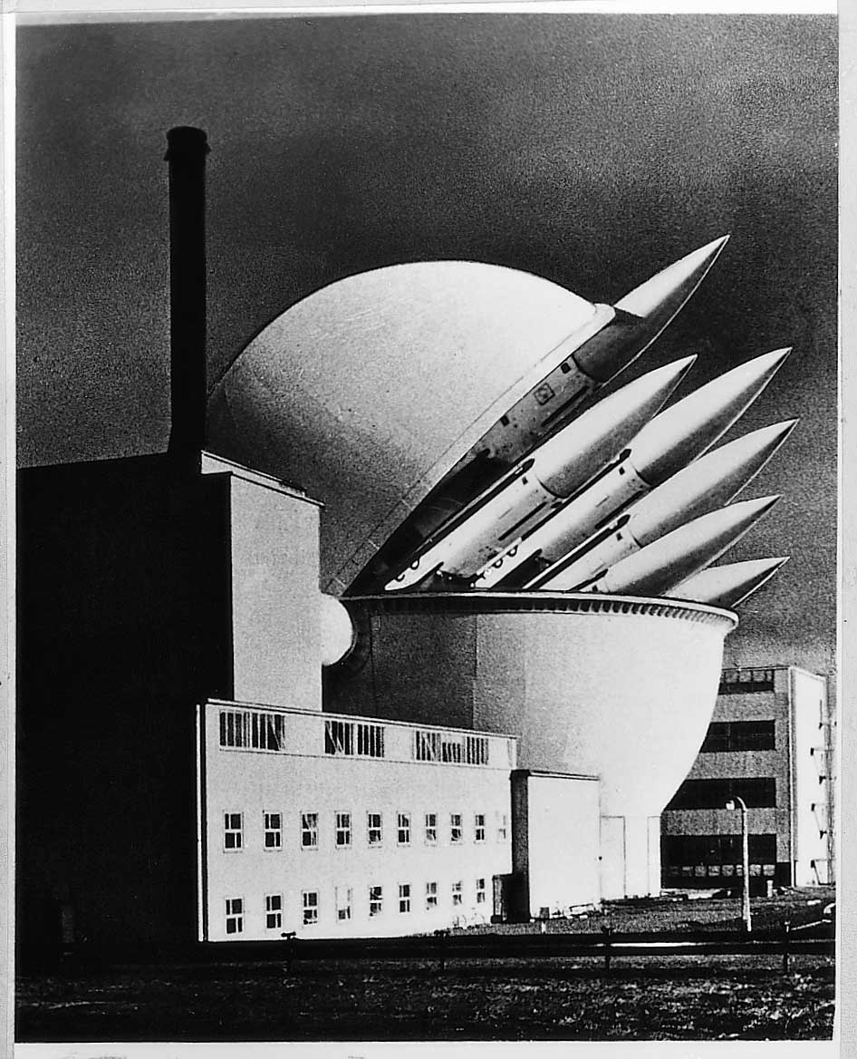Nuclear Power/Weapons - PhotomontageGelatin silver prints, gouacheand ink on card1980First published:leaflet for SERA (socialistenvironment and resourseassociation), 1980Catalogue: PK/97