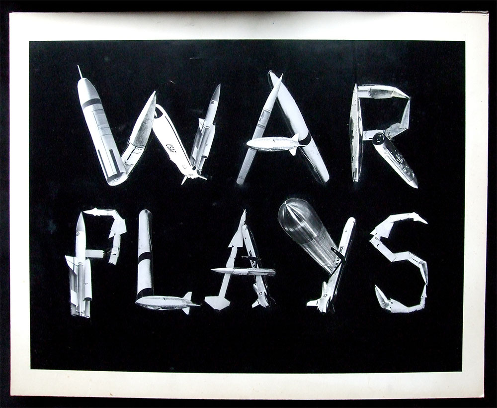 War Plays - PhotomontageGelatin silver printsand ink on card1985First published:Great Peace, Part 3 of The WarPlays by Edward Bond,The Barbican, 1985Catalogue: PK/263