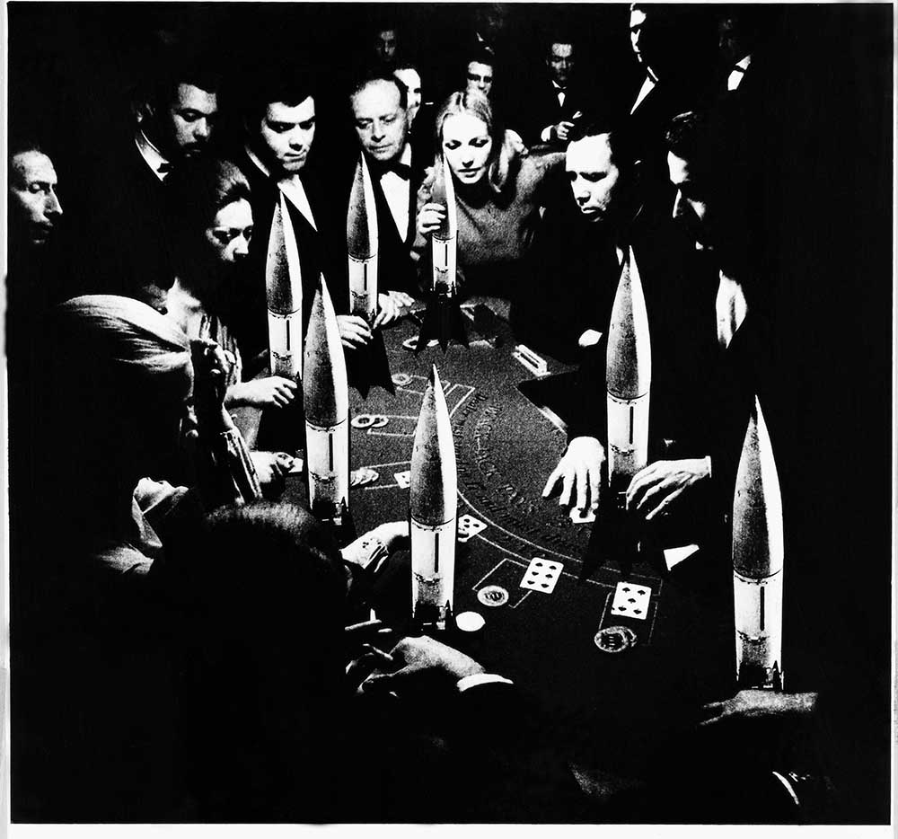 The Gamble - PhotomontageGelatin silver prints andink on card1986First published: About Turn,GLC/Pluto Press, 1986Collection: a/politicalCatalogue: PK/177