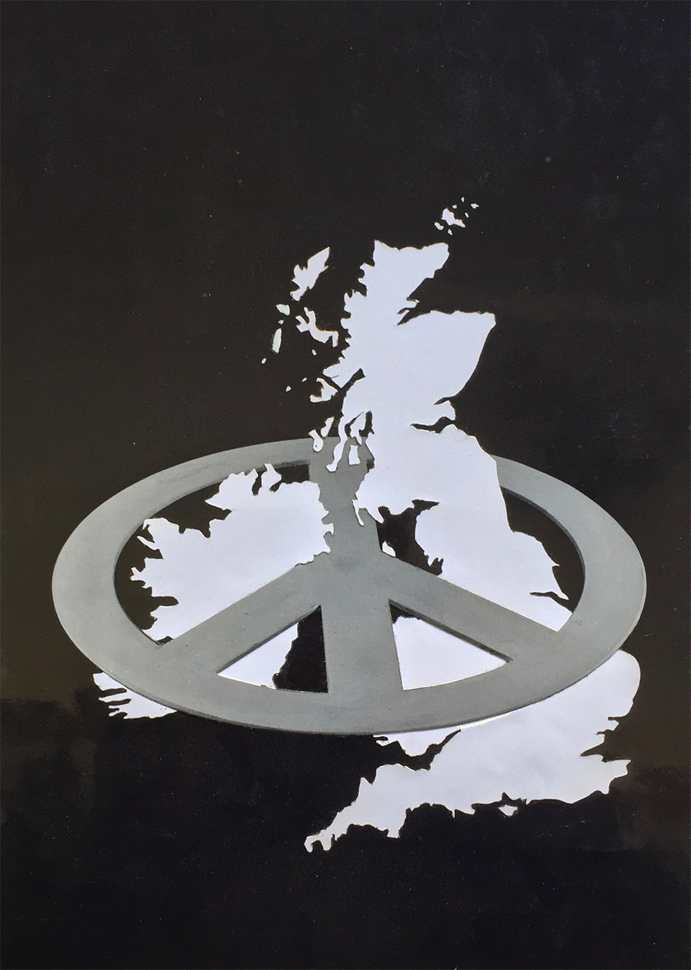 Nuclear Free Britain - PhotomontageGelatin silver prints andink on card1982First published:Leaflet for CND, 1982Catalogue: PK/117