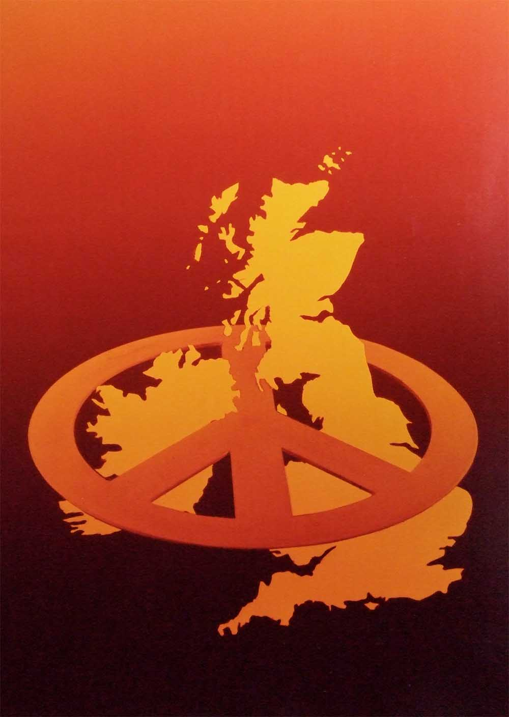 Nuclear Free Britain(colour print) - PhotomontageGelatin silver prints,cibachrome and ink on card1982First published:Leaflet for CND, 1982