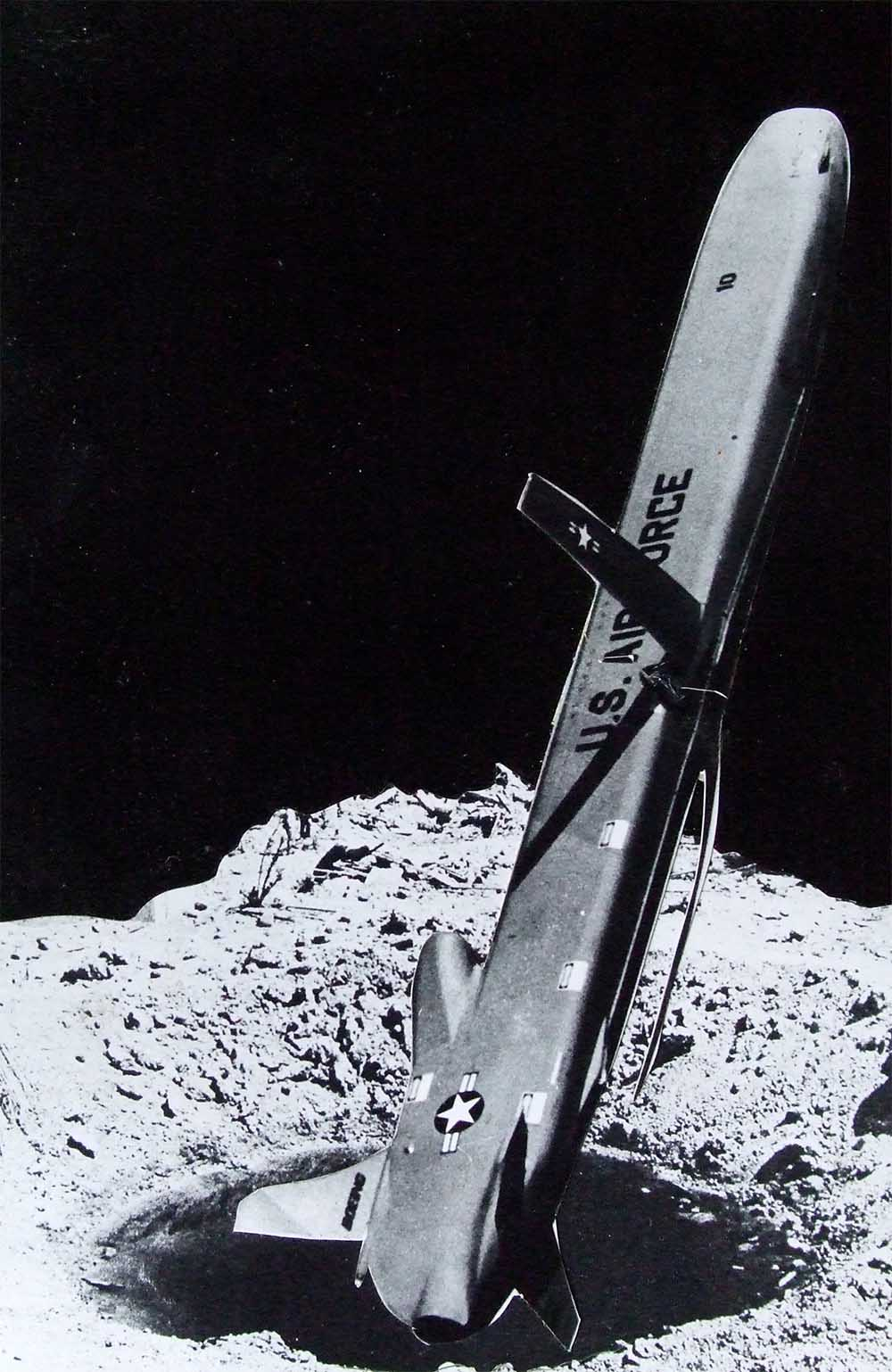 Cruise Missile (rough) - PhotomontageGelatin silver prints andink on card1986Catalogue: PK/311