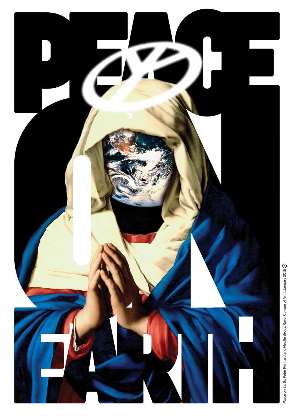 Peace on Earth - Photomontage with typographyby Neville BrodyDigital print2003 - 2016First published:The Guardian, 1st January 2016