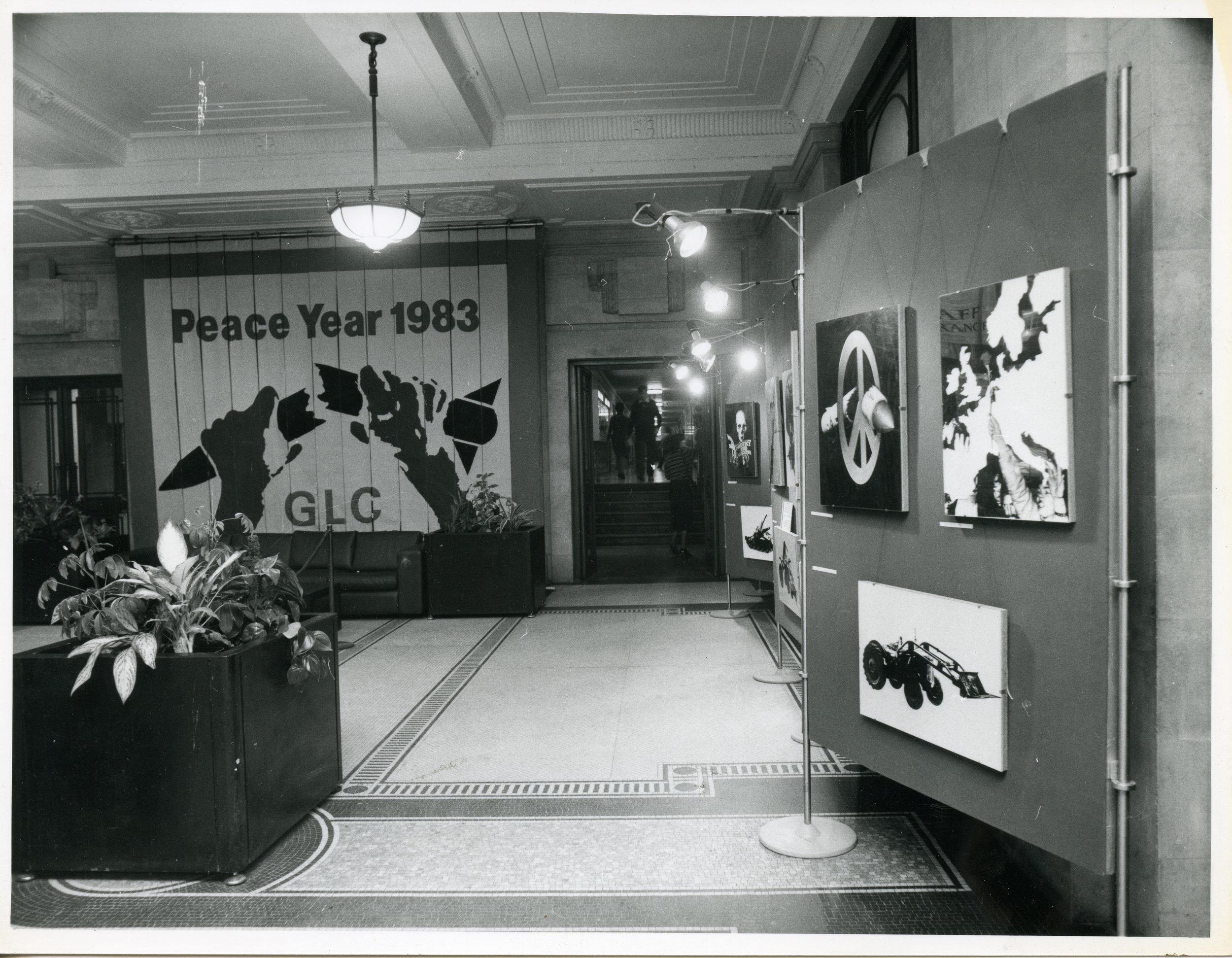 GLC Peace Year, County Hall, 1983