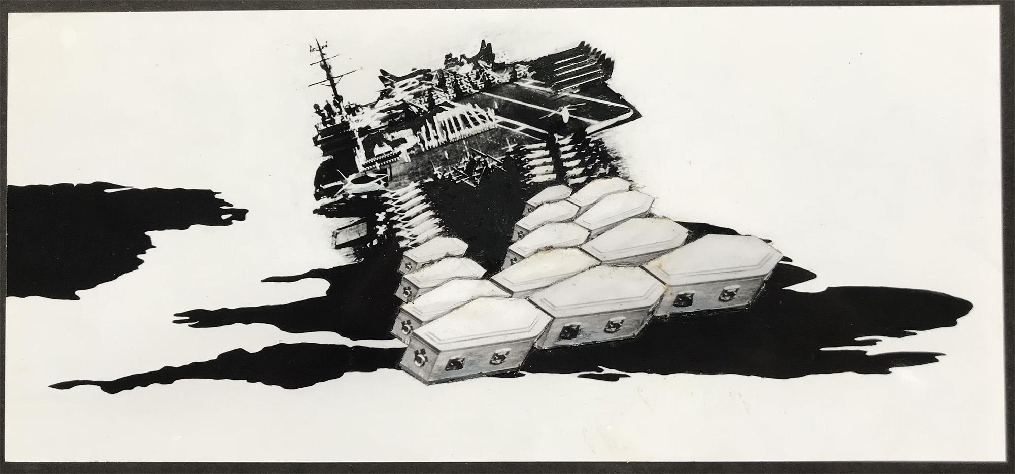 Falklands War - PhotomontageGelatin silver print on card1981First published: New Scientist, Sept 1981Catalogue: PK/150