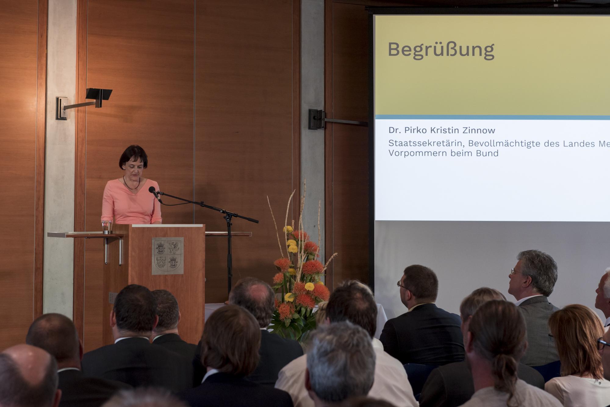 Dr. Pirko Kristin Zinnow, Staatssekretärin, Bevollmächtigte des Landes Mecklenburg-Vorpommern beim Bund © DUK/Christoph Löffler