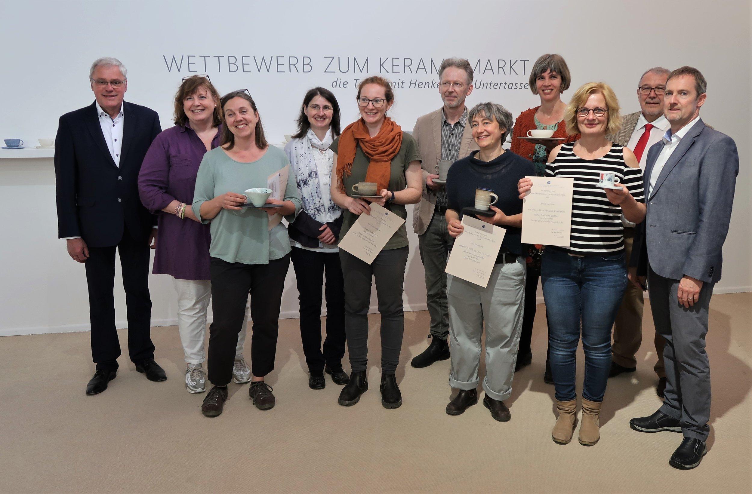 Jury mit den Gewinnern