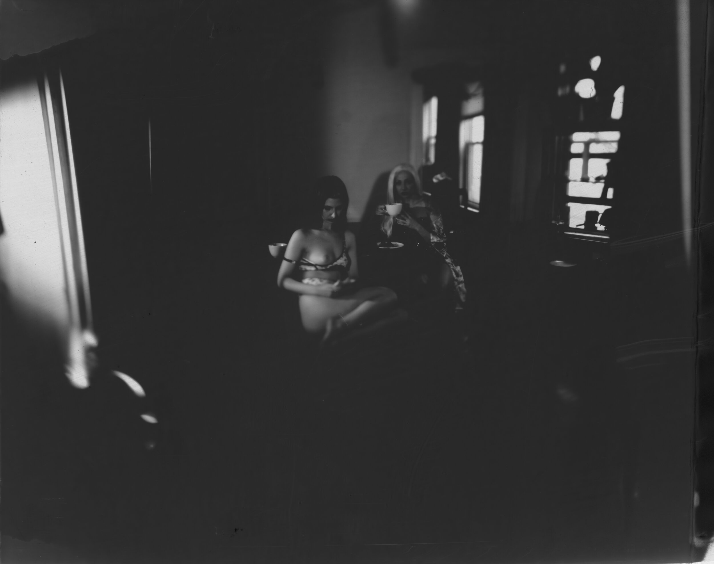 """4x5 paper negative from the film """"I Love Being Lonely"""""""