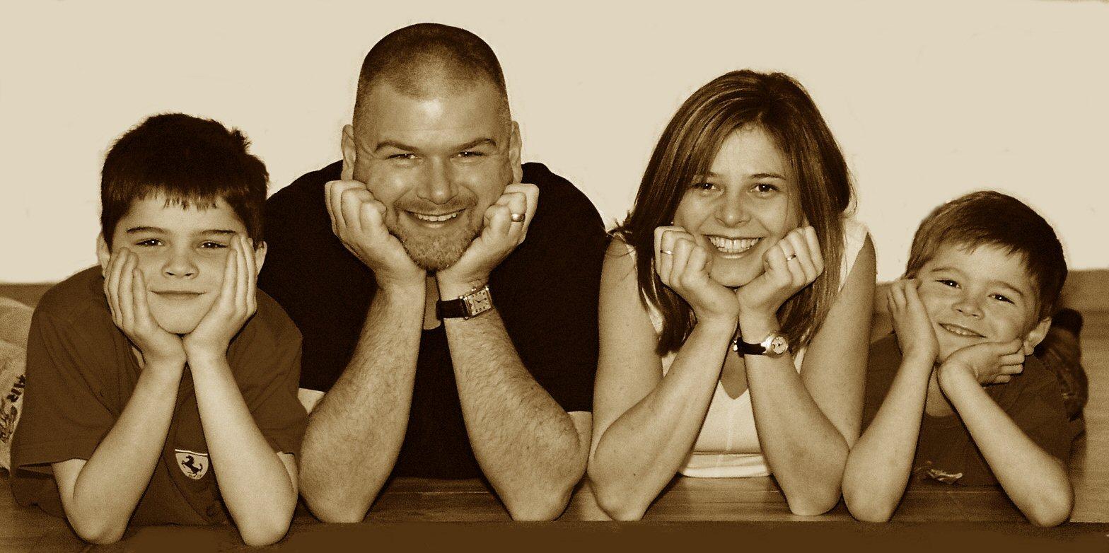 The Heasley family (Ibiza)
